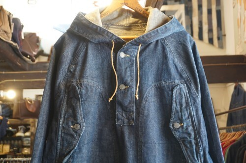 DENIM & SUPPLY denim pull-over hooded Jacket