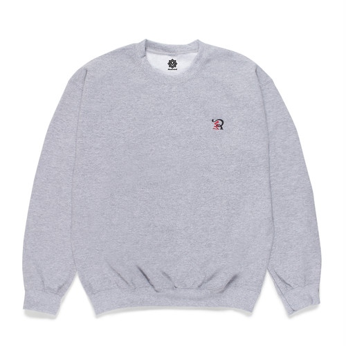 RUEED LOGO EMBROIDERY CREW NECK SWEAT SHIRT / GRAY