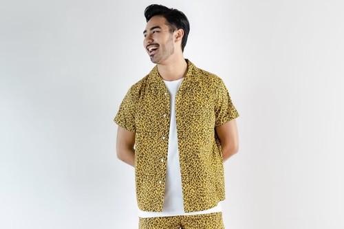 ThreeArrows Leopard S/S SHIRT (yellow)