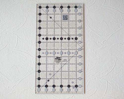 ご予約受け付け インチ定規 creative grids 6.5インチ×12.5インチ