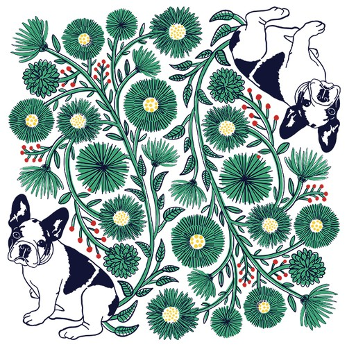 Nordic pattern No.2/Portraits of Dogs, Cats and Pets