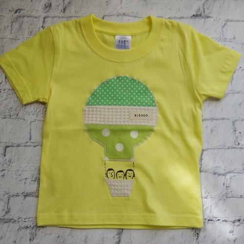 【kitoco.】アップリケのキッズTシャツ(気球・100)