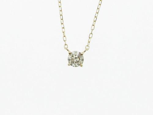 お買得品【K18YG】0.30ct UP ダイヤモンドネックレス