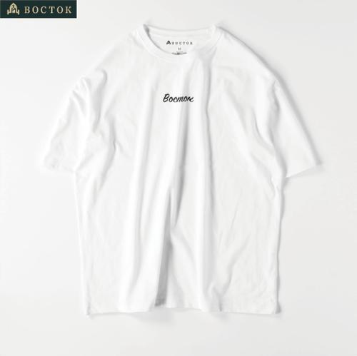 """Восток""(Tシャツ:ビッグシルエット:白)"