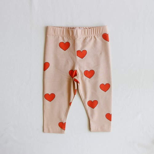 《TINYCOTTONS 2020AW》HEARTS PANT / light nude × red