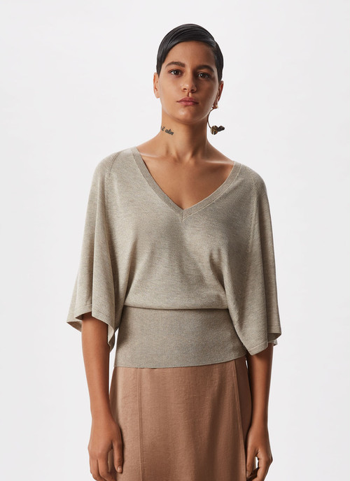 LUREX SWEATER WITH WIDE SLEEVE