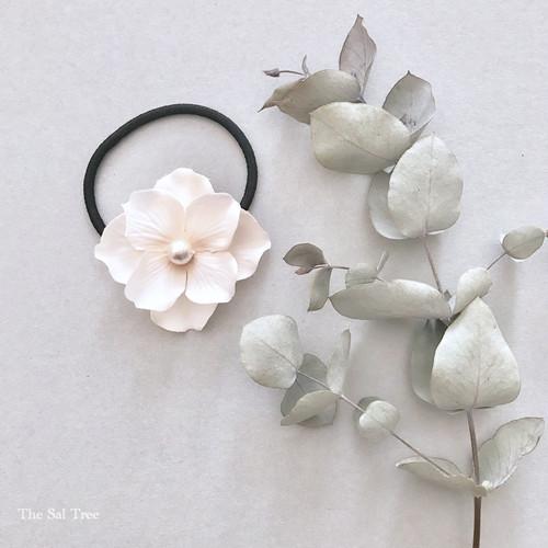 お花のヘアゴム / ピーチ