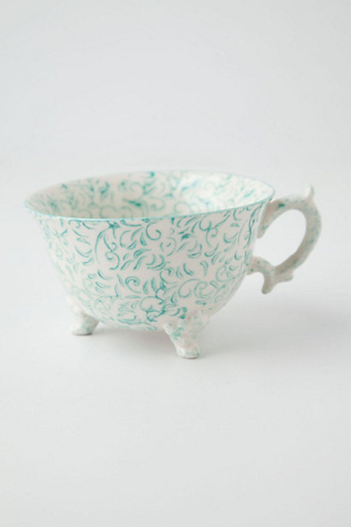 ANTHROPOLOGIE //  Teacup -green