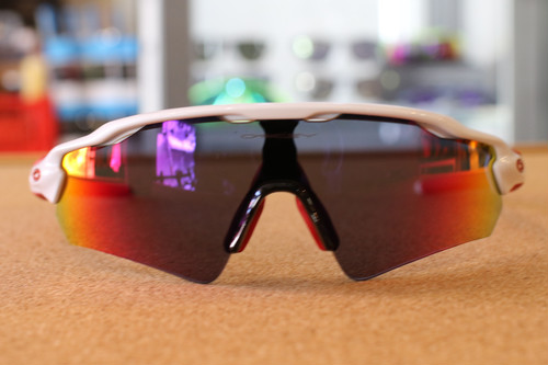 "OAKLEY ""RADAR EV PATH (A)"" POLISHED WHITE/POSITIVE RED IRIDIUM"