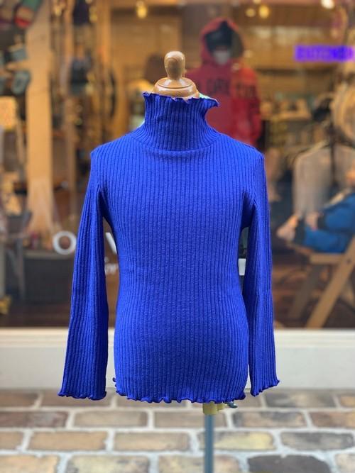 highkingirl  bumpy long sleeve(blue/90〜120cm)