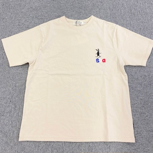 Shabby One-Point Embroidery T-shirts Ivory