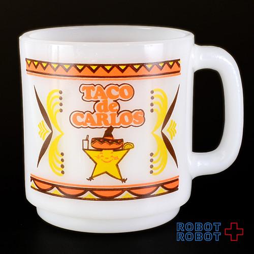 カールスJr姉妹店タコデカルロス ミルクガラス・マグカップ