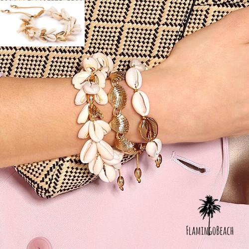 【FlamingoBeach】shell bracelet シェルブレスレット 54818