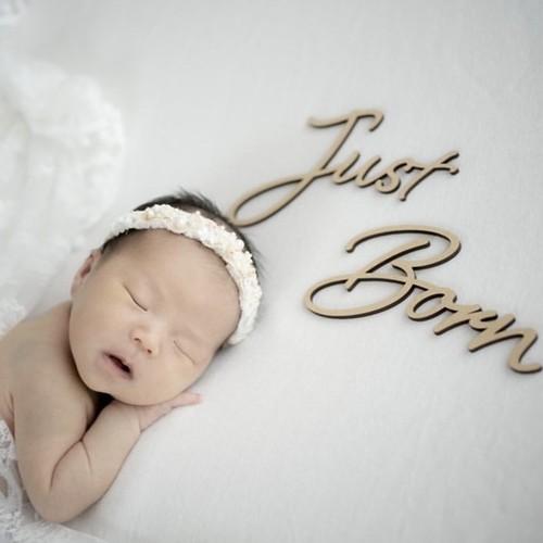 木製 / レターバナー Just Born [A]