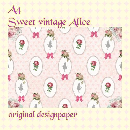 sweet vintage alice デザインペーパー  10枚入り