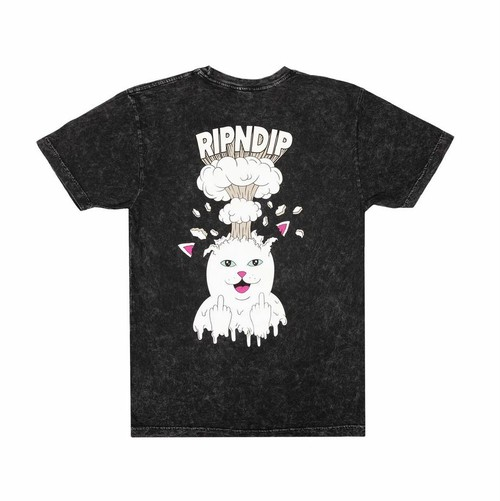 RIPNDIP -  Mind Blown Tee (Black Mineral Wash)