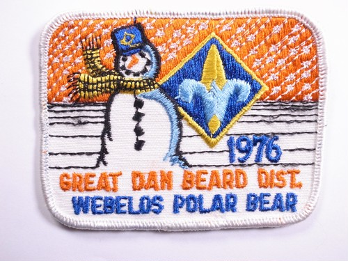 "OLD PATCH""WEBELOS POLAR BEAR 1976"""