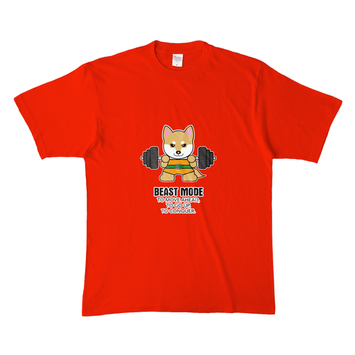 Tシャツ メンズ【BEASTMODE 柴犬】