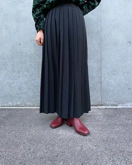 (PAL) pleats long skirt