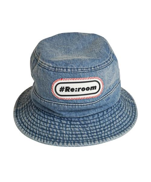 3D ICON WAPPEN DENIM BAGUETTE HAT[REH120]