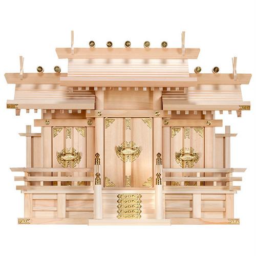 屋根違い三社・中(木曽ひのき)P06-6