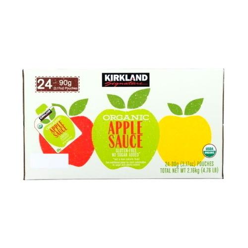 コストコ カークランドシグネチャー オーガニック アップルソース 90g x 24パック   Costco Kirkland Signature Organic Apple Sauce  90g x 24pack