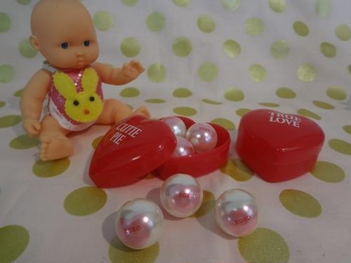 10個 Candyhearts  パールビーズ ❤