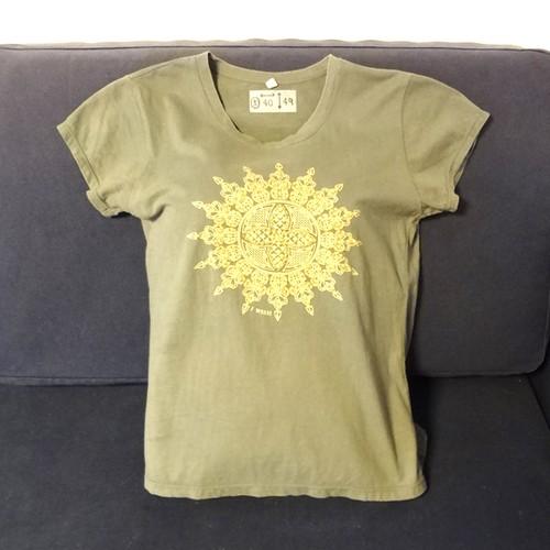 【海外土産】ビーズTシャツ3モスグリーン(タイ)◆送料無料