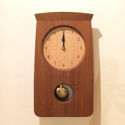 T様ご注文 チークの振り子時計