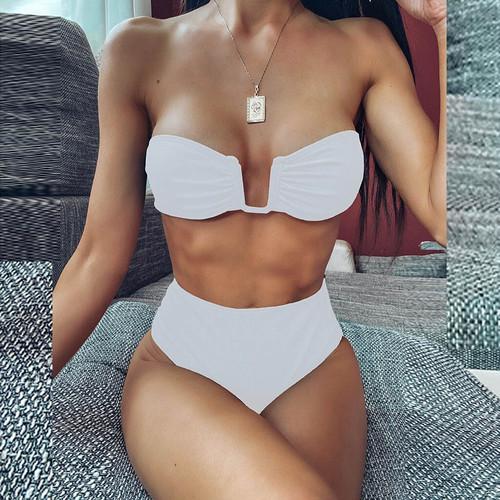 Bikini♡フロントワイヤーバンドゥビキニ ホワイト