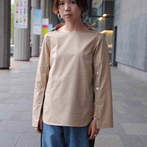 【CINOH】COLLAR BOAT NECK BLOUSE