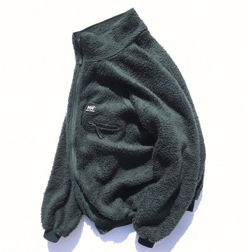 1980's [HELLY-HANSEN] ハイパイル フリースジャケット ダークグリーン 表記(XL) ヘリーハンセン