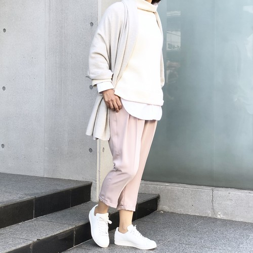 NEO CROSS TUCK PANTS/BEIGE