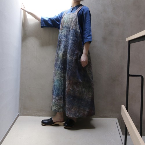 retela / リテラ unfabfic apron dress blue green