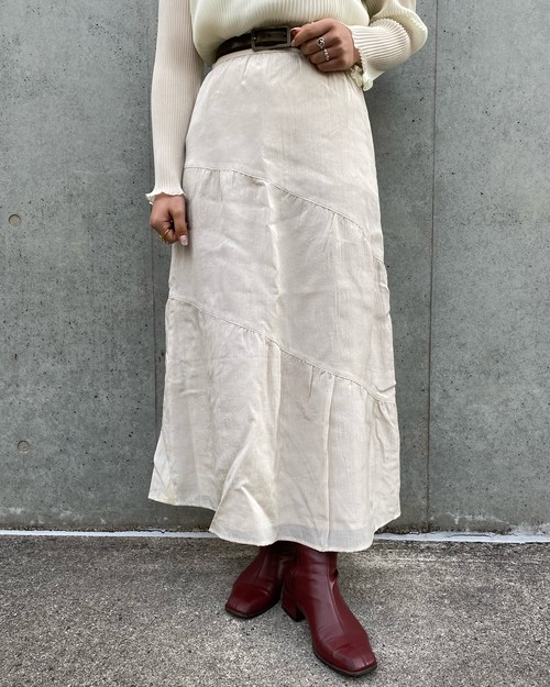 (PAL) flare long skirt