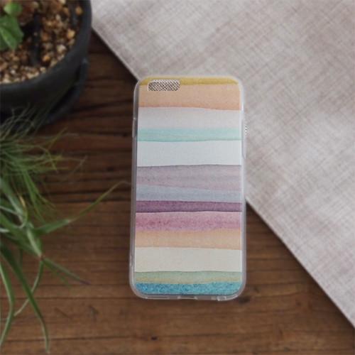 送料無料 iPhoneケース 夕焼けグラデーション#01 iphone6 6s対応 スマホケース