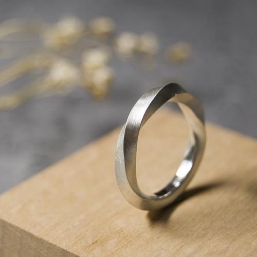 シルバーツイストリング 2.5mm幅 マット 3号~27号|WKS TWIST RING 2.5 sv matte|SILVER950 銀 指輪 FA-256