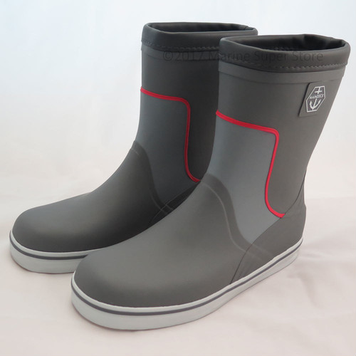 Maindeck Tall Grey Rubber Boot (Maindeck セーリングブーツ) [ショート/EU42/uk8]