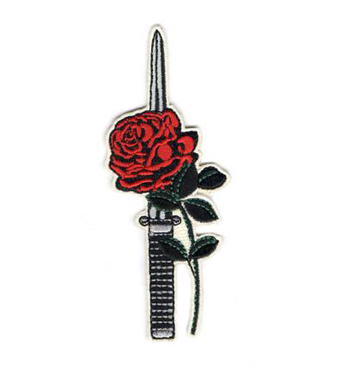"BALL&CHAIN""ROSE DAGGER PATCH"""
