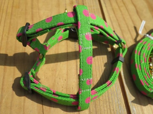 Polka Dot Harness & Leash - XS(超小型犬・幼犬用)