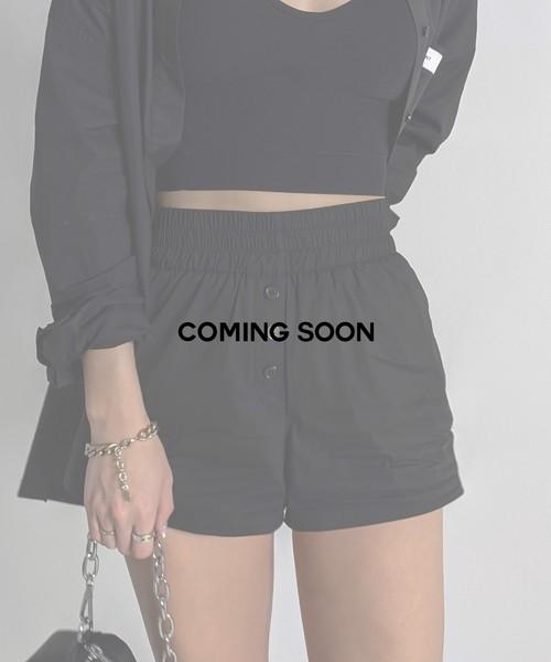 Front button design shorts