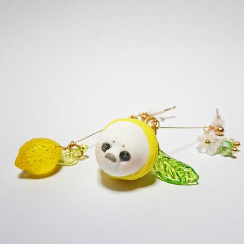 レモンにンギュゥとつまってる伝説の白れもん フィギュアイヤリングピアス