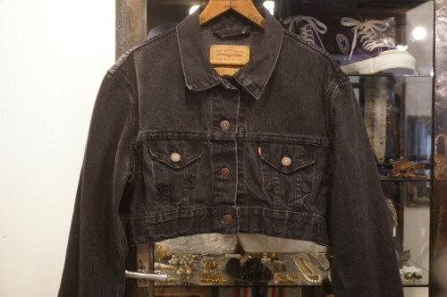Levi's black denim remade cropped Jacket