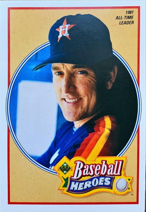 MLBカード 91UPPERDECK Baseball Hero Nolan Ryan #14of18