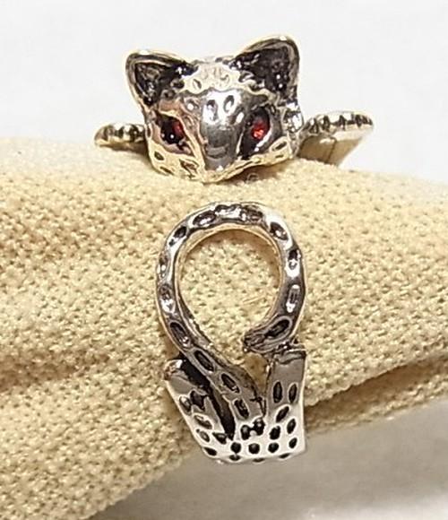 ファッションリング 猫リング 猫の指輪  3897CR