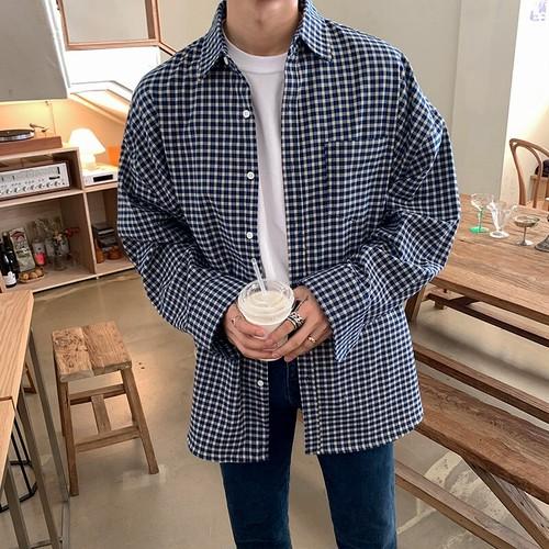 ワンポケットチェックシャツ BL8036