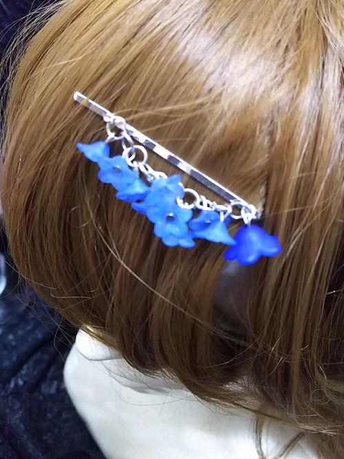 枝垂れヘアピン 青