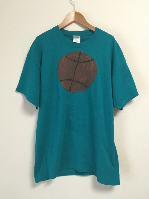 2000's childish oil painting T's(basketball)