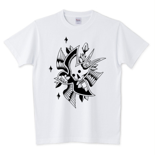 SKULL SWALLOW Tシャツ