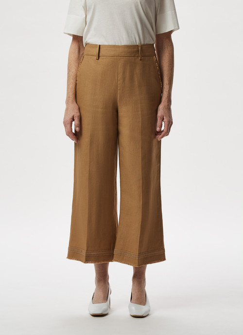 FRINGED CROP TROUSERS